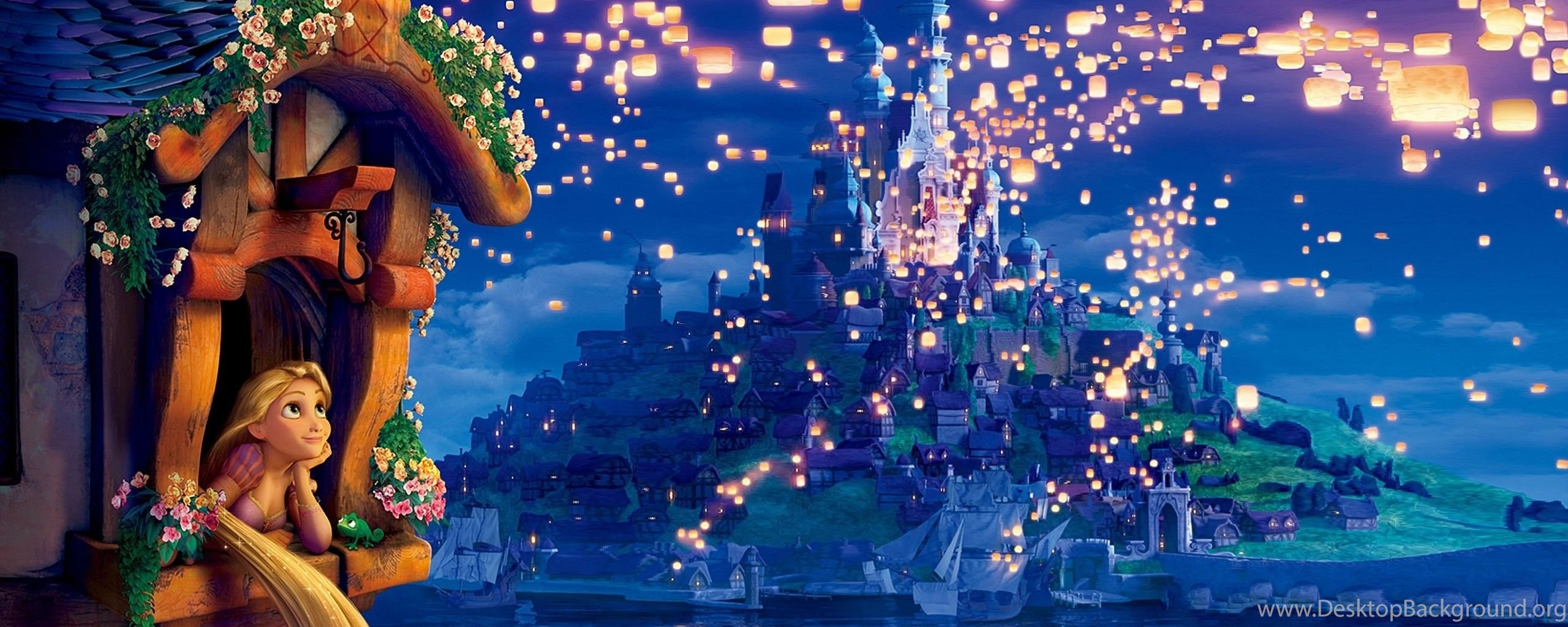 download wallpapers tangled, the movie, rapunzel, princess, dreams