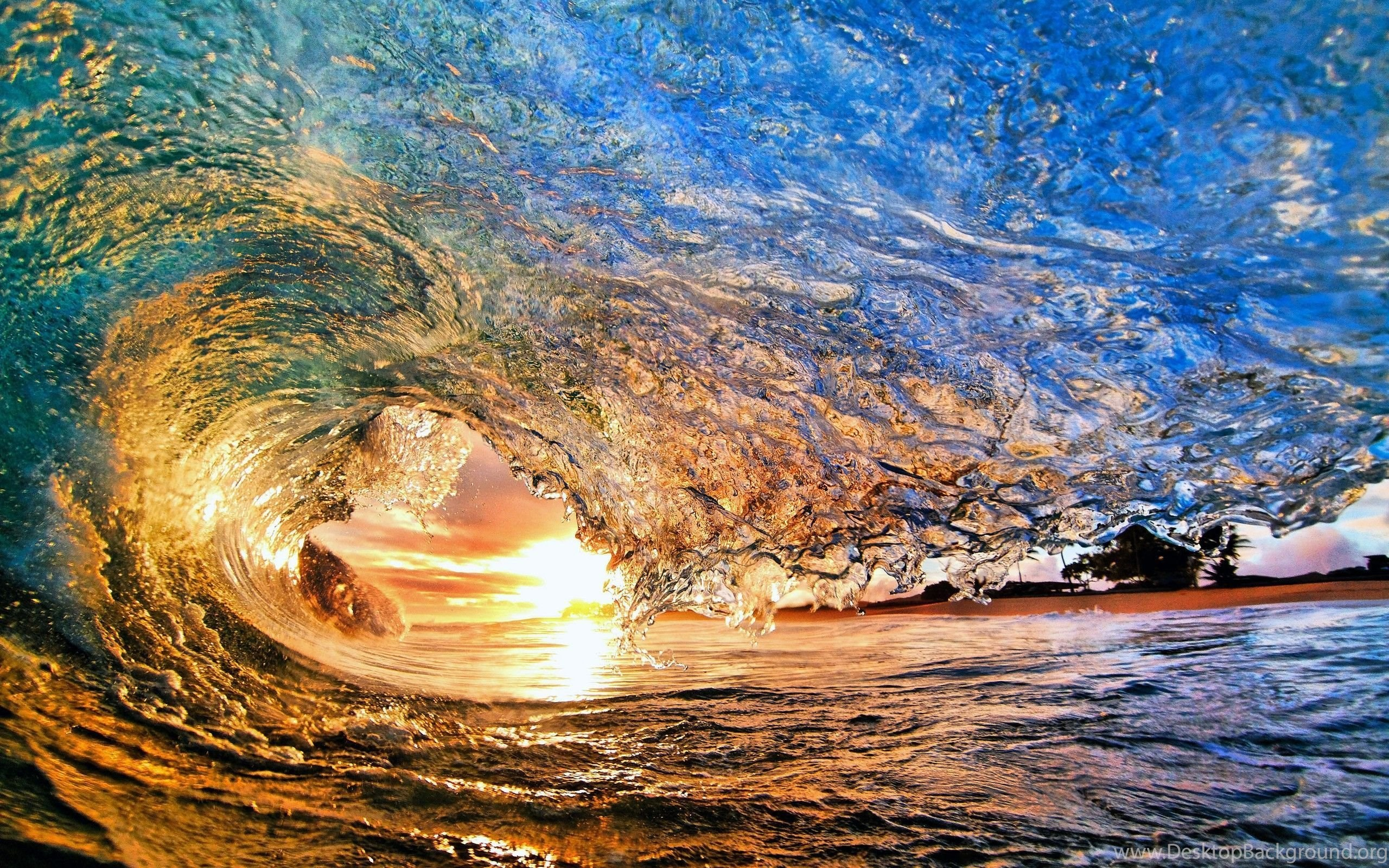 Colorful Surf Waves Desktop Backgrounds Free Wallpapers