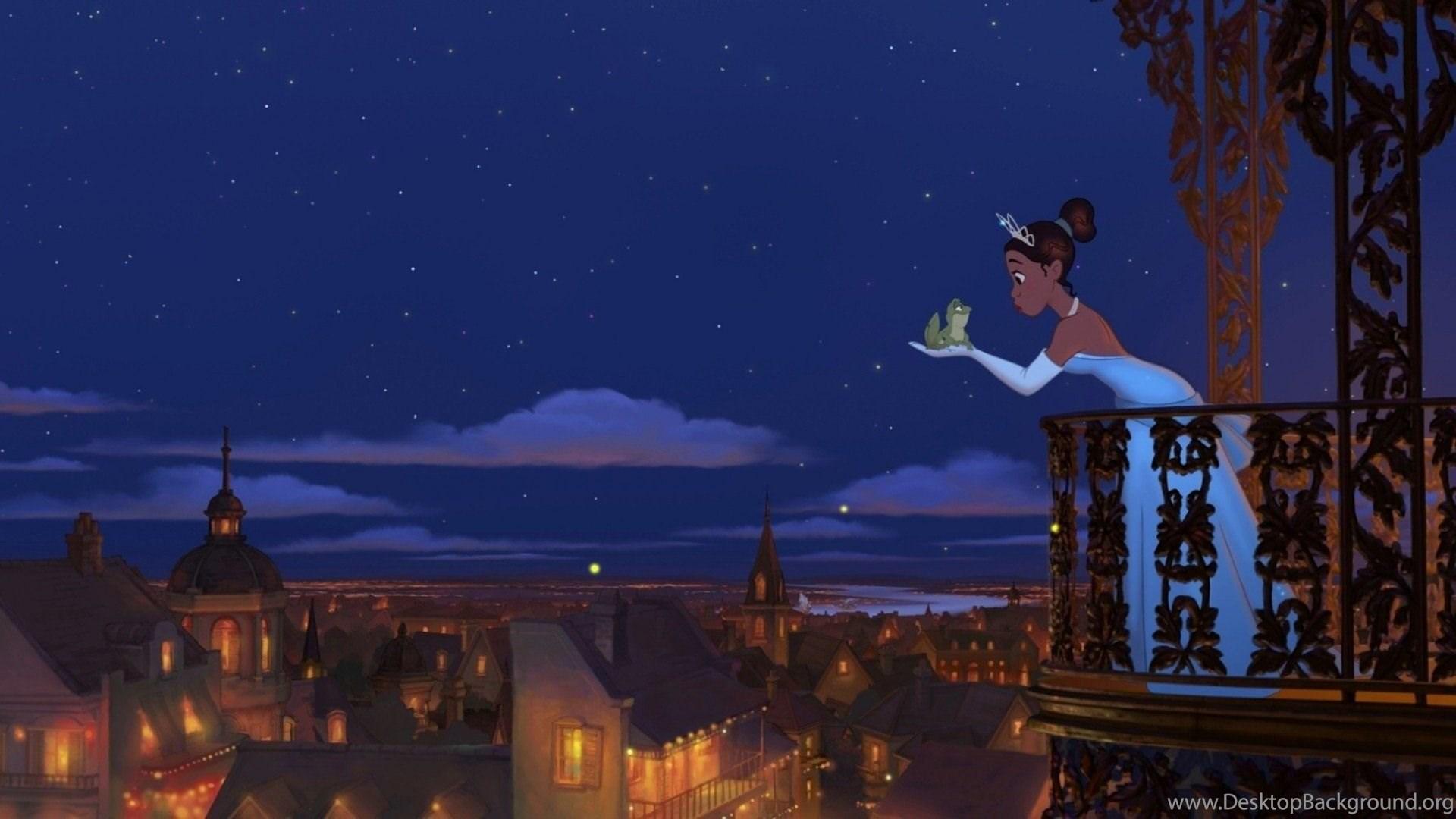 Cartoons Frog Tiana The Princess And The Frog Disney Wallpapers