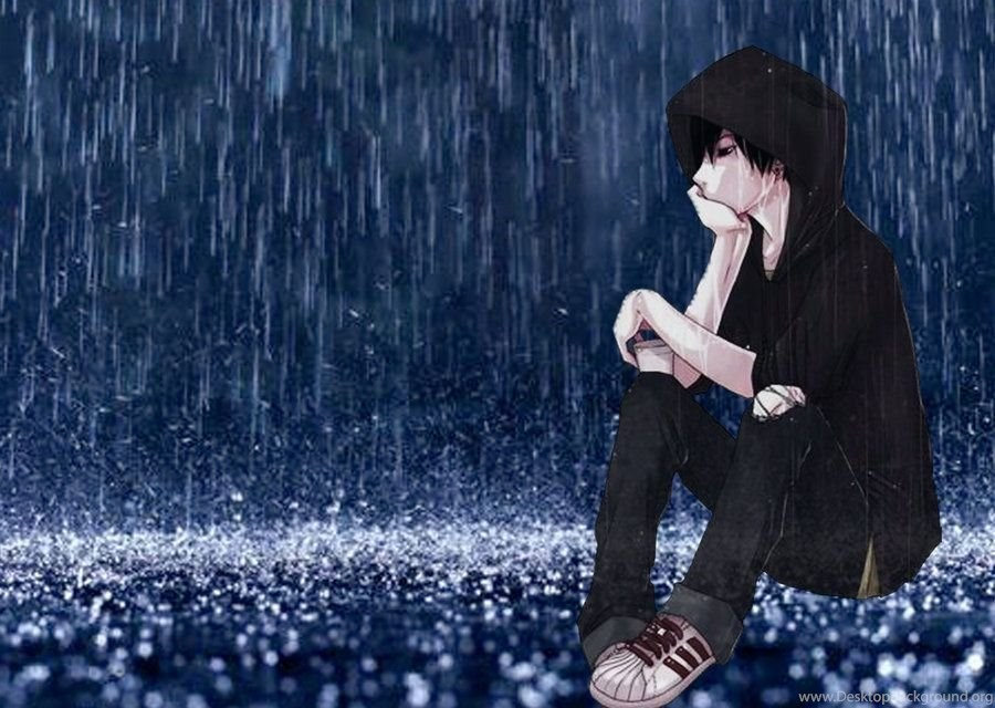 Lonely Sad Anime Girls And Boys Wallpapers Desktop Background