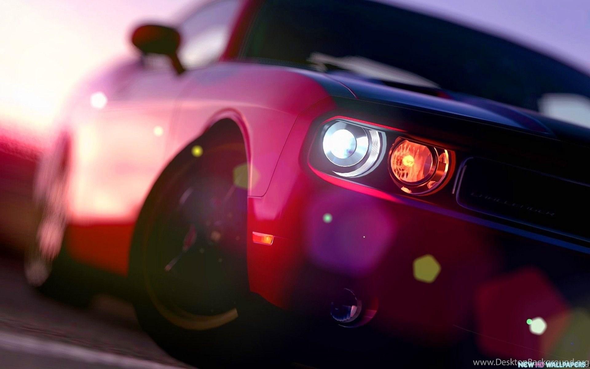 Pink Dodge Challenger Car Hd Photo Free New Hd Wallpapers Desktop