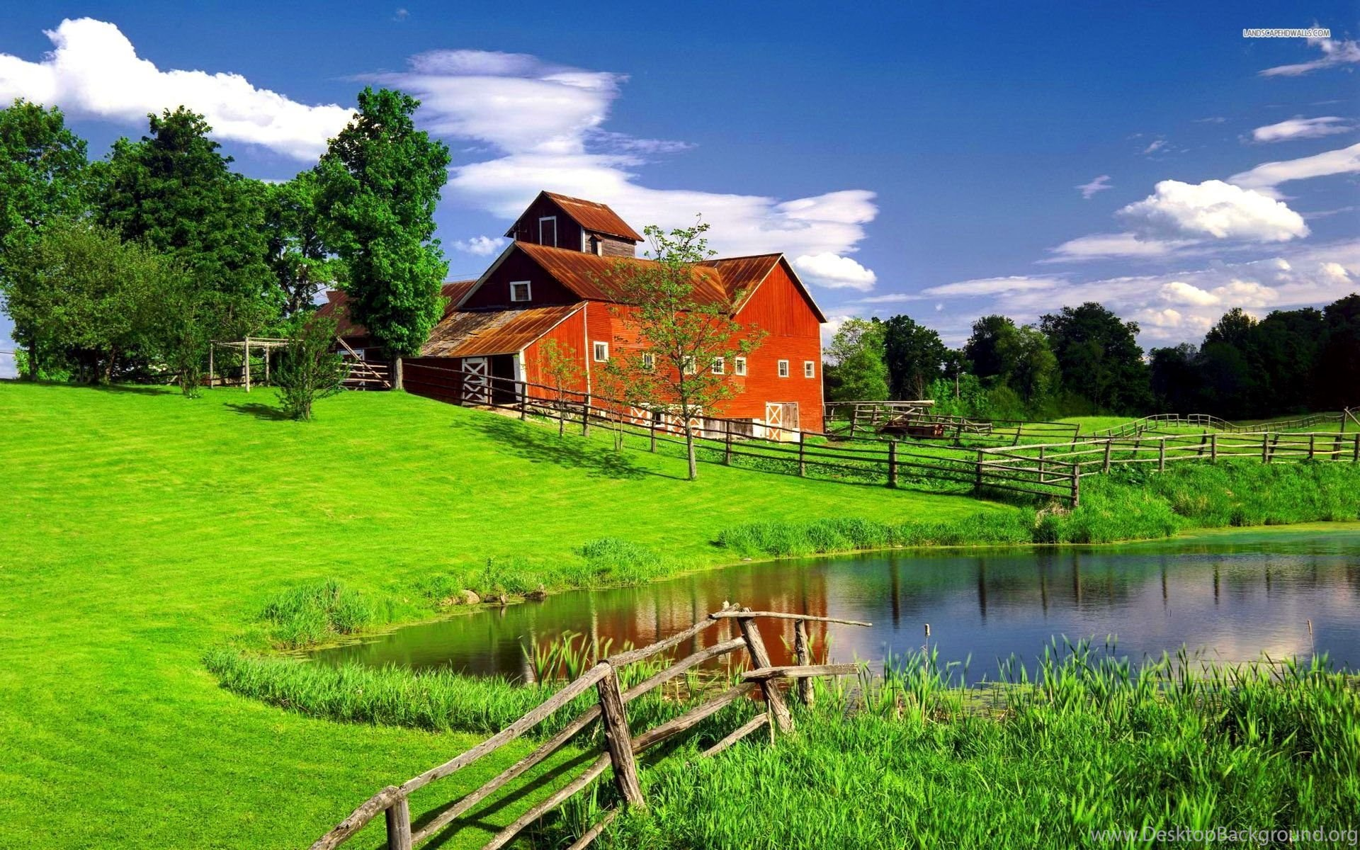 The Perfect House In Green Scenery Wallpapers Desktop Background