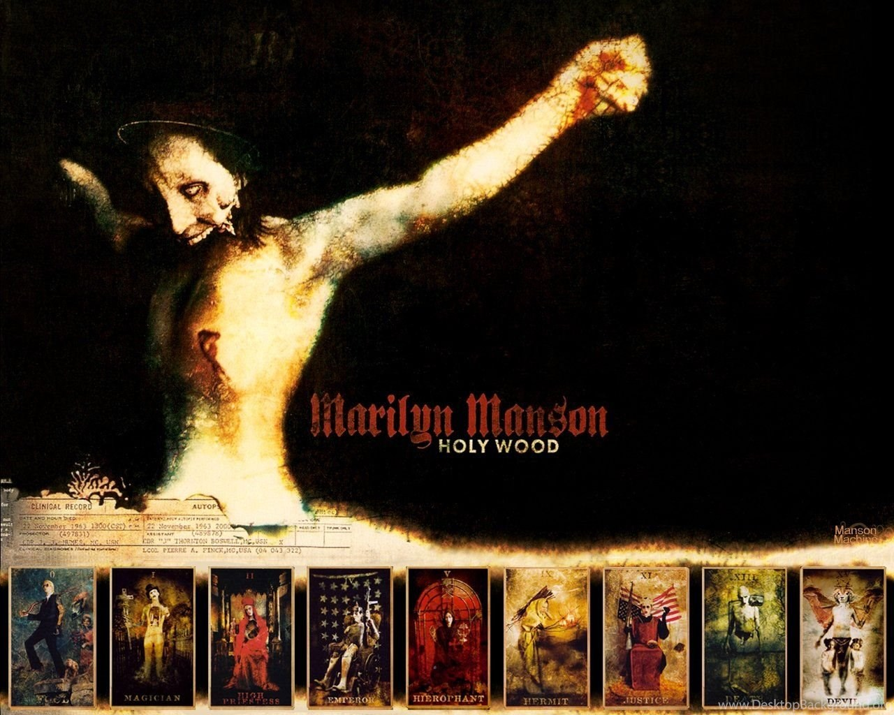 Marilyn Manson,Holy Wood, Wallpapers Metal Bands: Heavy