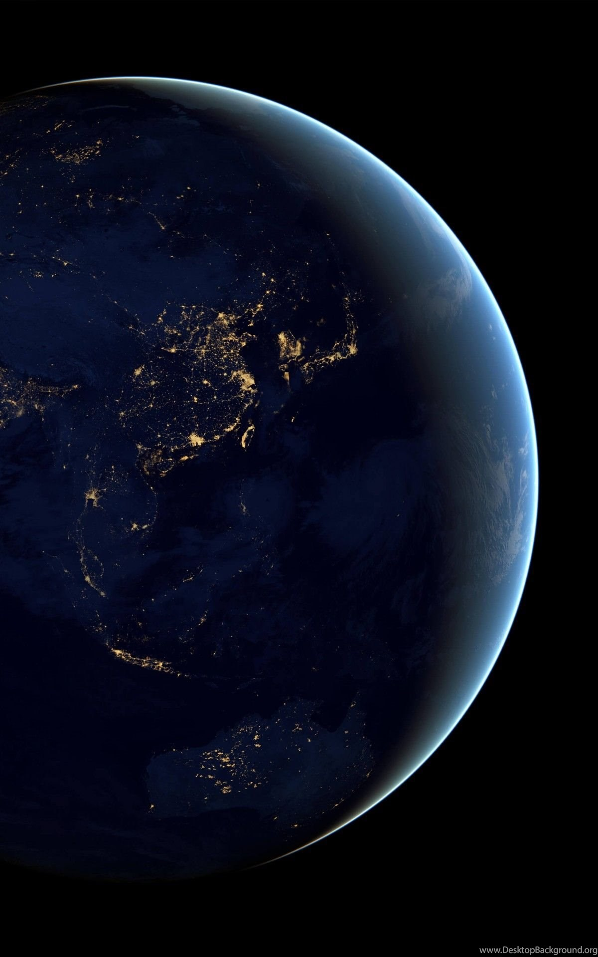download earth at night seen from space hd wallpapers for kindle