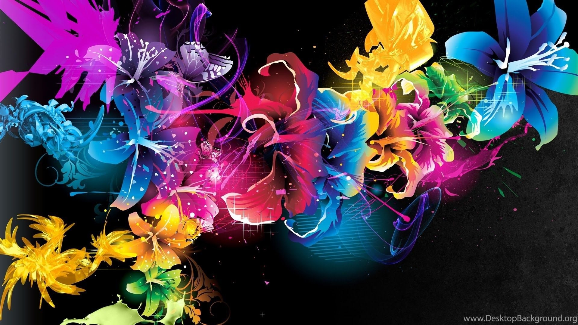 3d flowers hd wallpapers desktop background