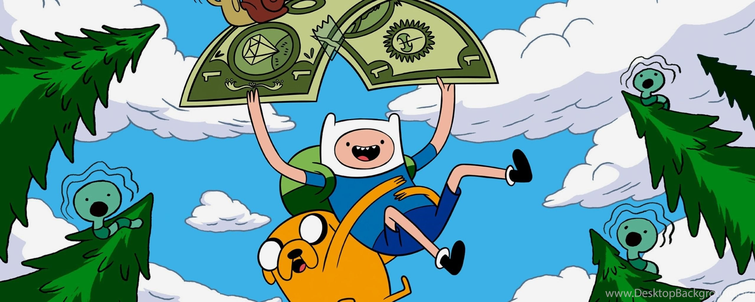 Dual Monitor Resolution Adventure Time With Finn And Jake