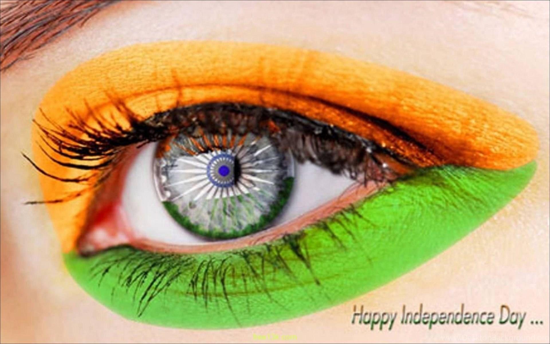 Indian Flag Eye 15 August Wallpapers Desktop Background