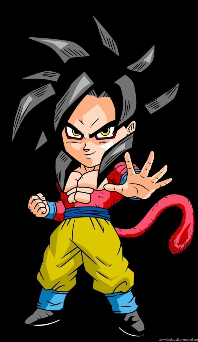 Chibi Super Saiyan 4 Goku Dragon Ball Z Desktop Wallpapers