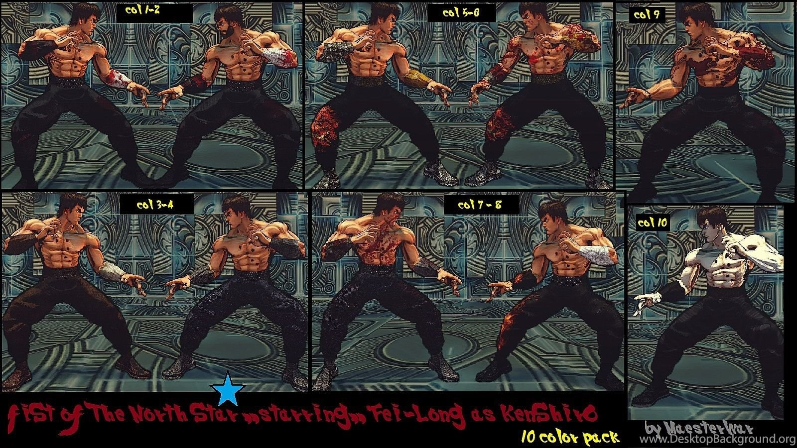 Fei Long Kenshiro Fist Of The North Star 10 Col By Maesterlee On
