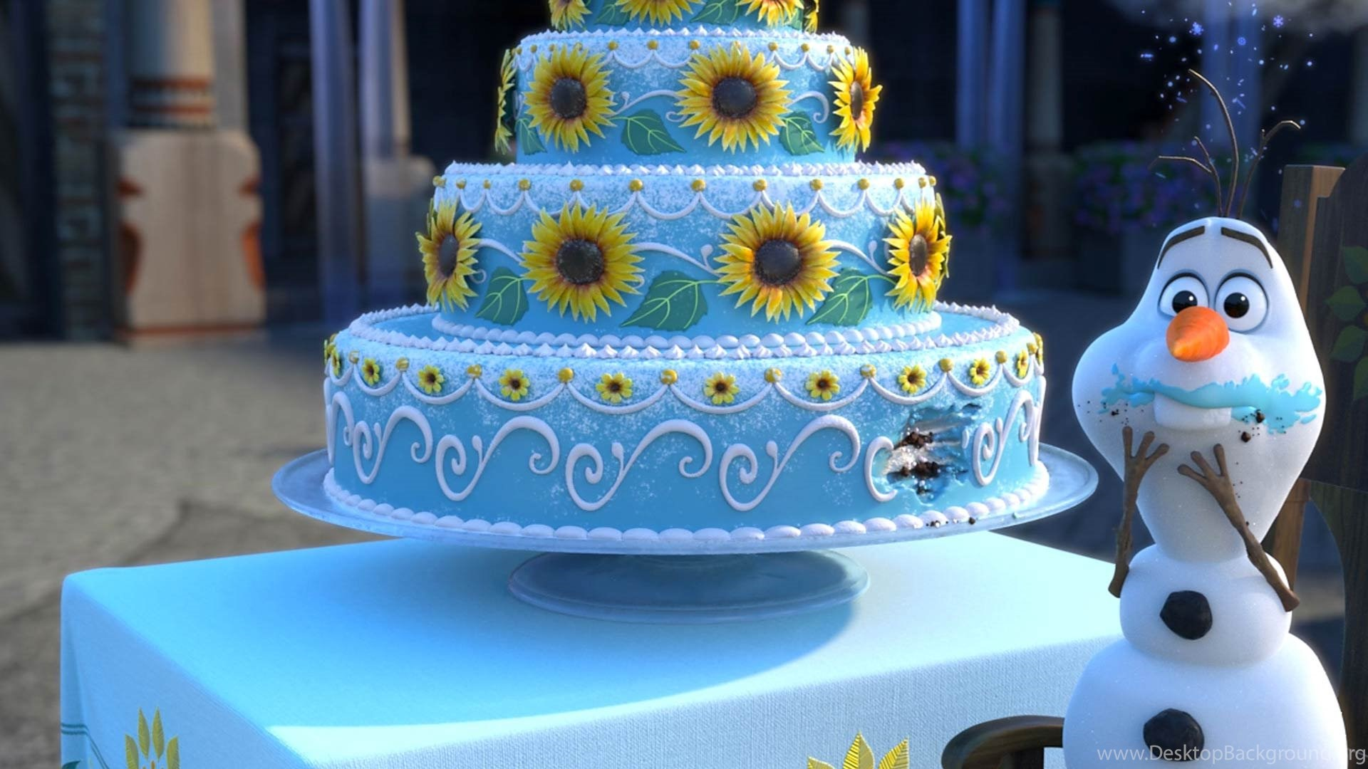 Frozen Fever Birthday Cake Wallpapers Free Full Hd Wallpapers