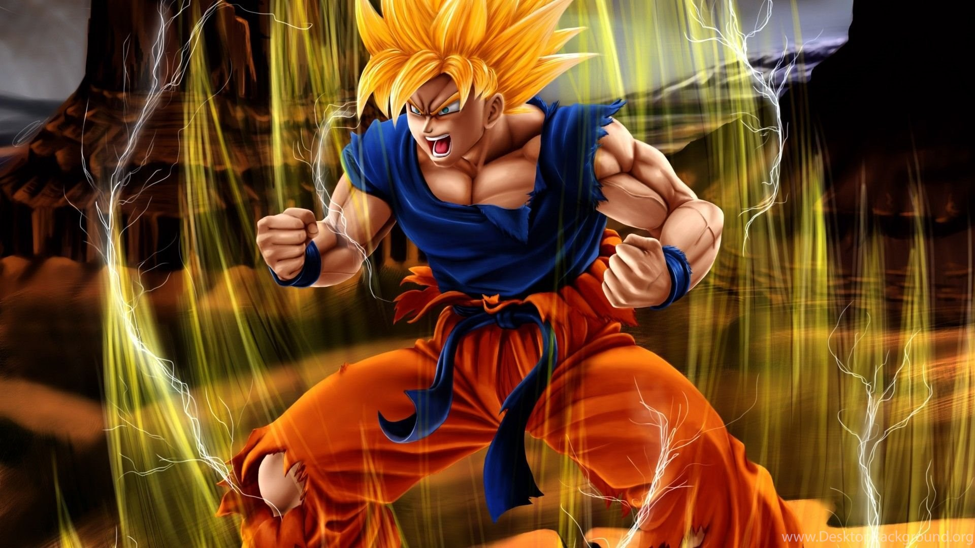 Awesome Son Goku Hd Wallpapers Desktop Background