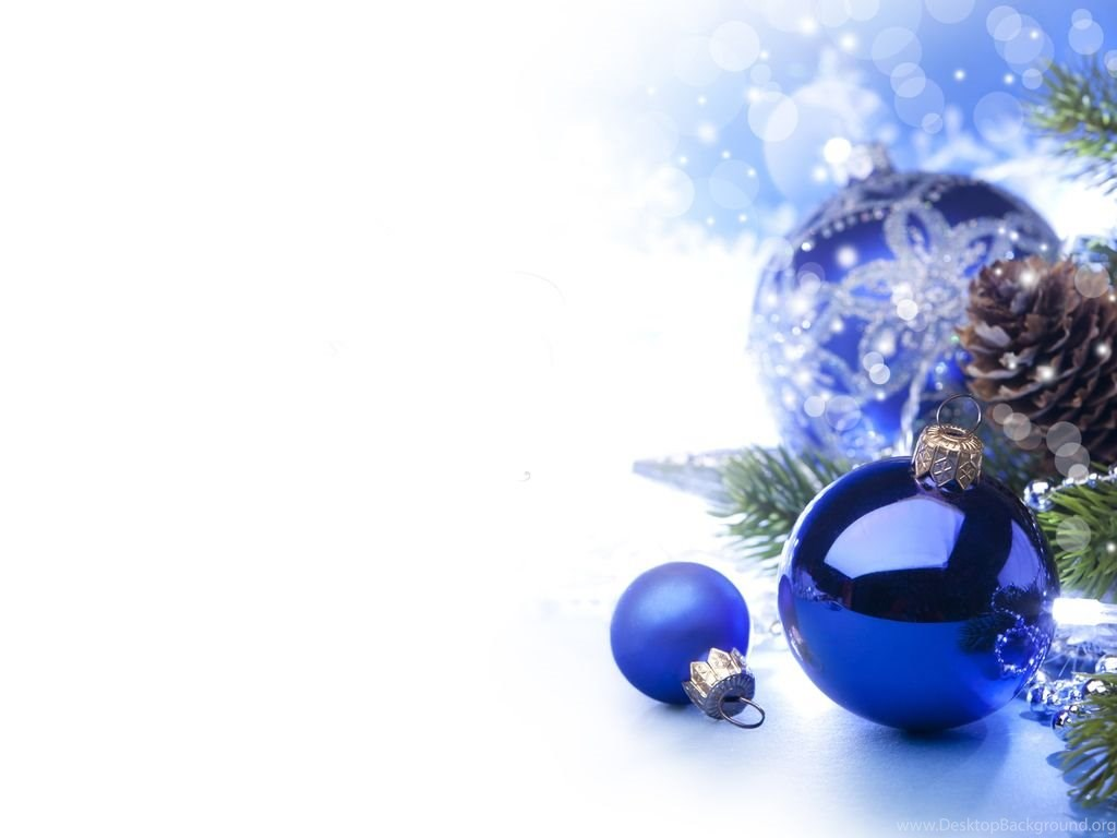 Blue Christmas Ornaments Christmas Wallpapers Desktop Background