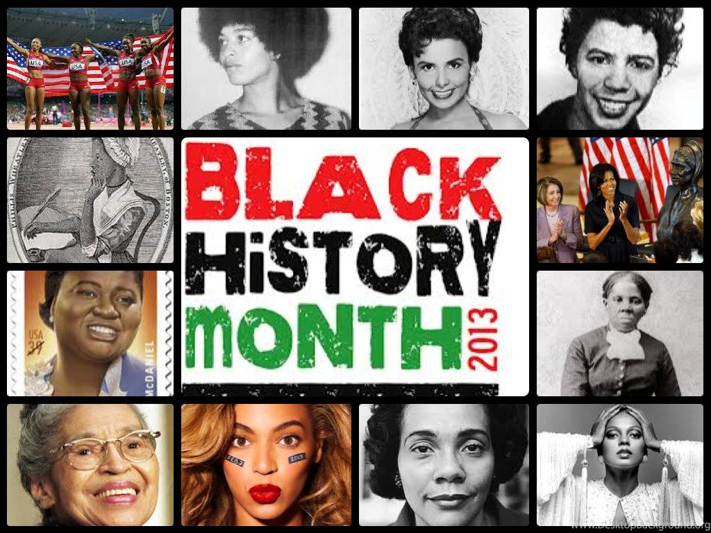 Black History Month Celebrating Wonderful Black Women Desktop Background