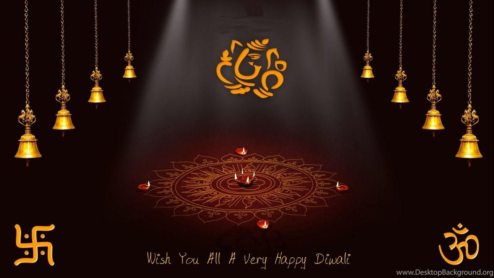 Happy Diwali And New Year Wallpapers: Happy Diwali 2013 HD Wallpaper, Lord Ganesh, Lakshmi Mata