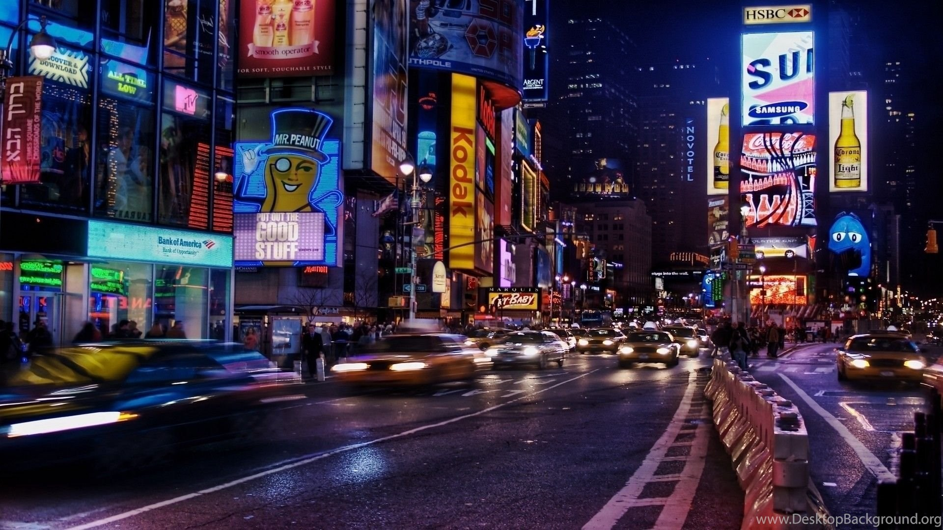 New York City Times Square Multicolor Wallpapers Desktop Background