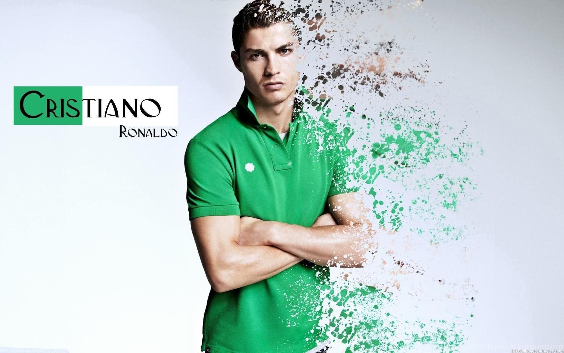Cristiano Ronaldo In Green Shirt Wallpapers Cristiano Ronaldo Desktop Background