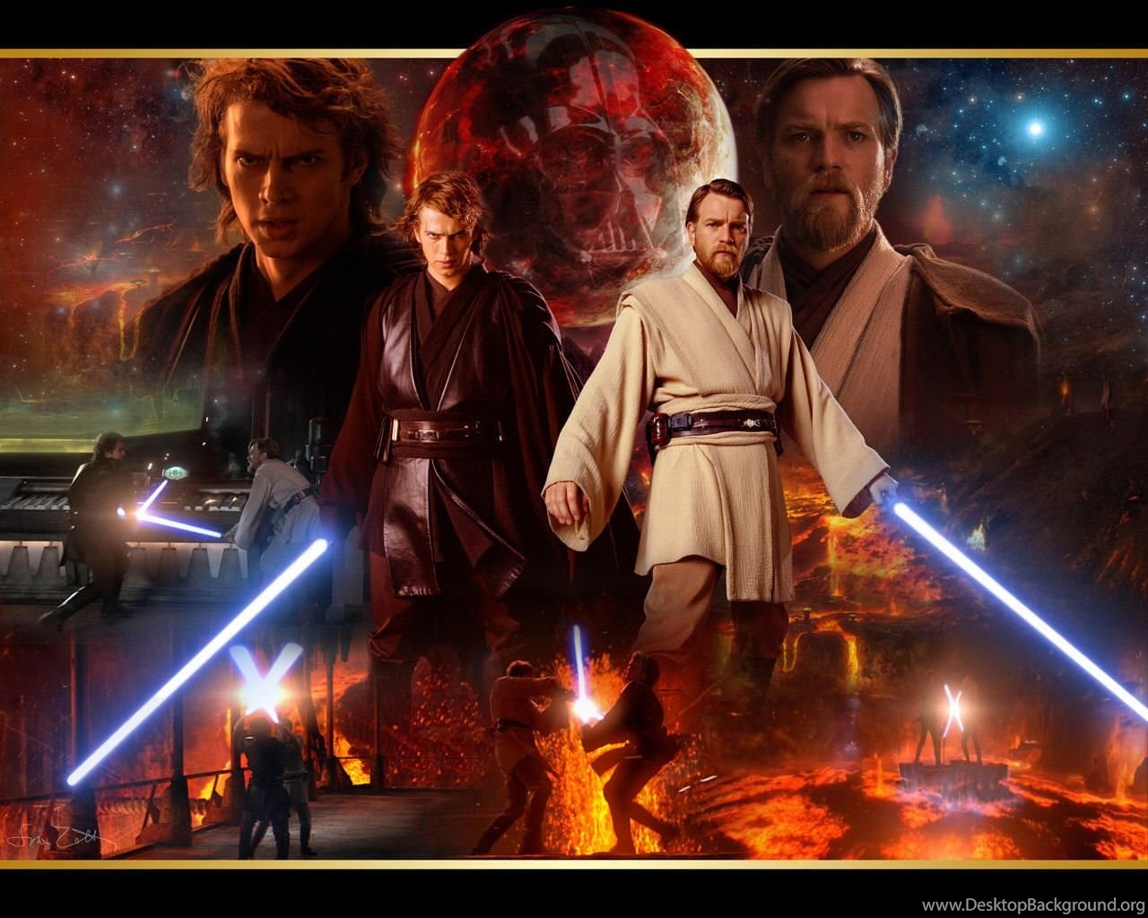 Anakin And Obi Wan Star Wars Revenge Of The Sith Wallpapers Desktop Background