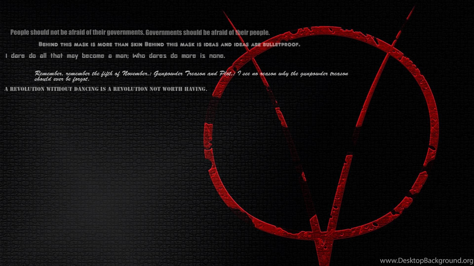 V For Vendetta Quotes Wallpapers Quotesquotesgram Desktop Background