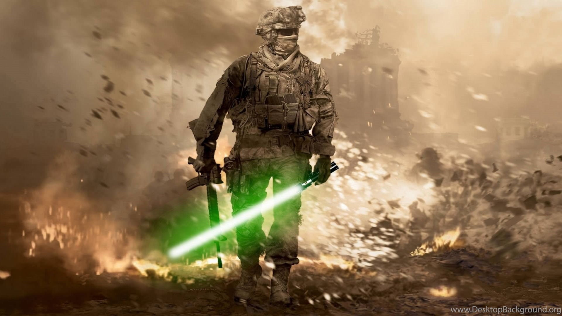 Call Of Duty Modern Warfare 2 Soldier Lightsaber Wallpapers