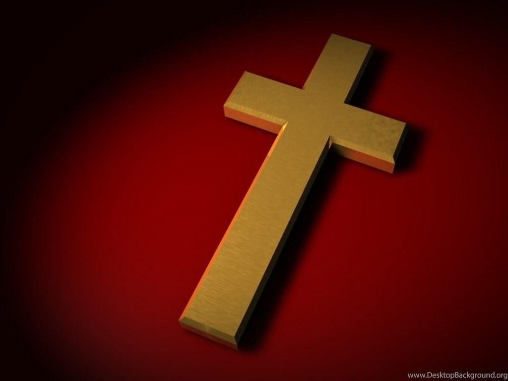 Golden 3D Christian Cross Backgrounds Wallpapers Desktop Background