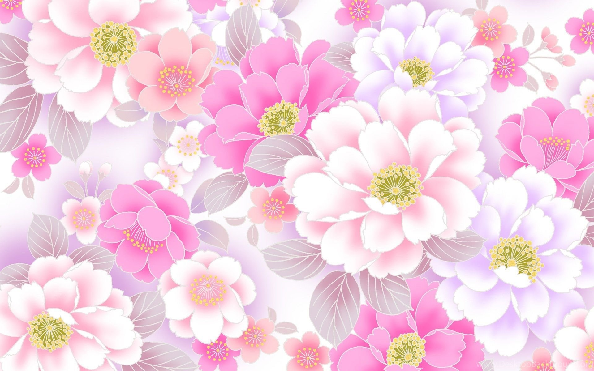 Pink Floral Backgrounds Wallpapers 253885 Desktop Background