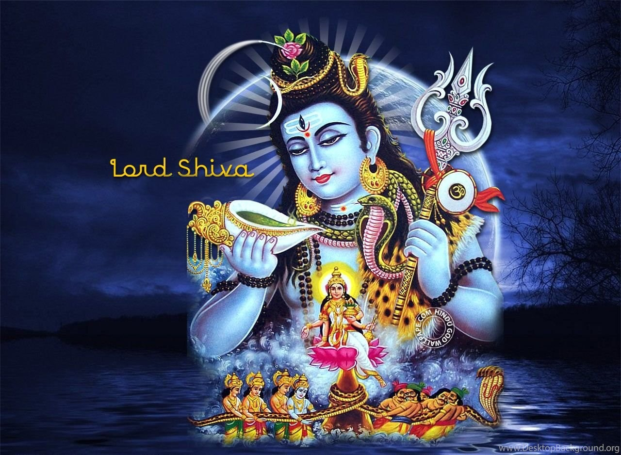 Lord Shiva Wallpapers Hd Free Download For Desktop: Samudra Manthan Lord Shiva HD Wallpapers Desktop Background