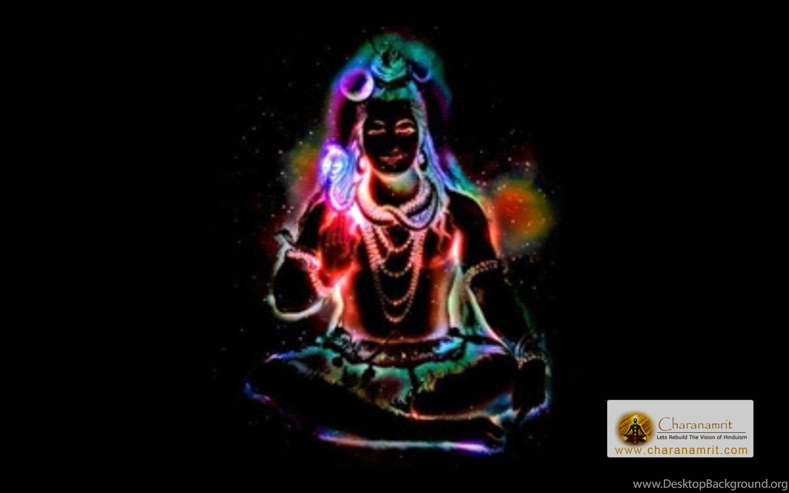 Lord Shiva Colorful Lighting Effects Hd Wallpapers For