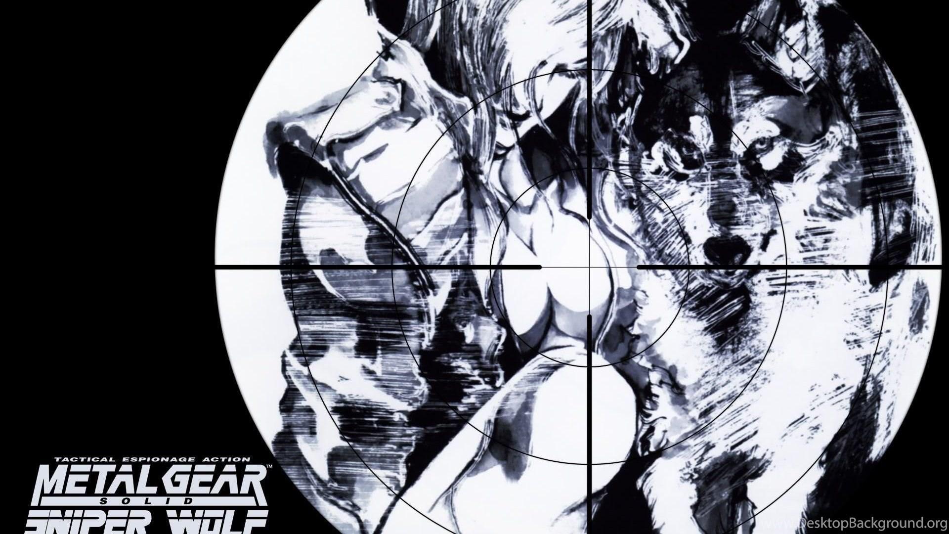 Wallpaper Metal Gear Solid Sniper Wolf Game Wallpapers Desktop
