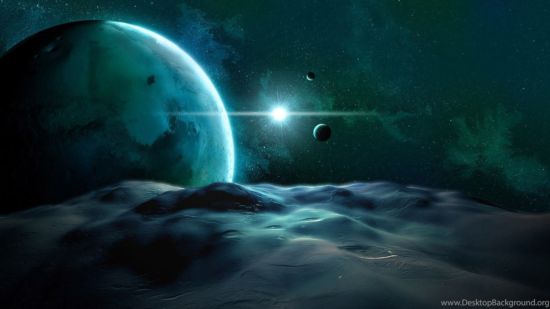 Wavy Planet Surface Hd Out Of This World Wallpapers Free Hd