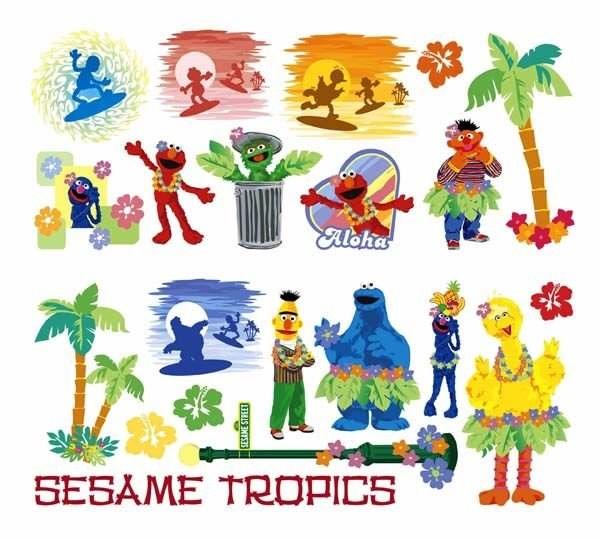 Sesame Street Wall Stickers Borders Growth Chart Murals Stick