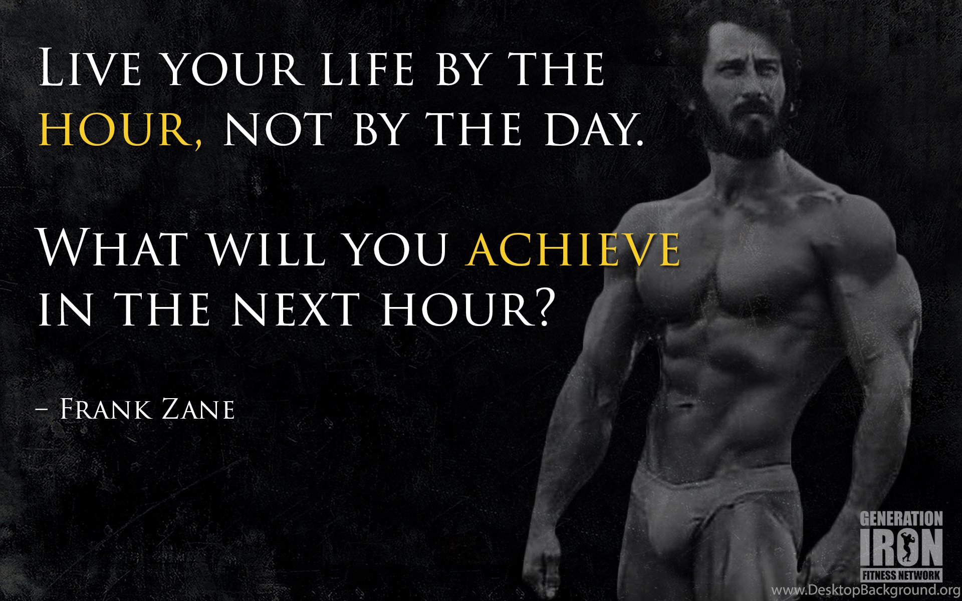 Quote Of The Week Frank Zane Desktop Background