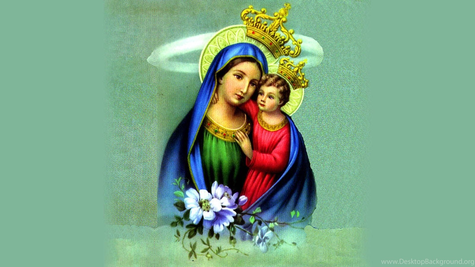 Mother Mary With Baby Jesus Christ Wallpapers Picture Download