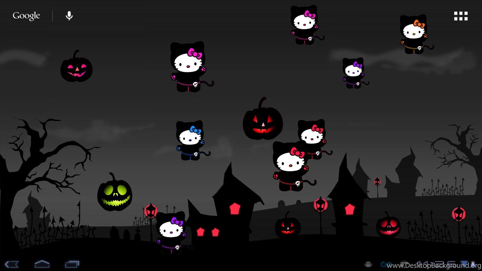 hello kitty loft: hello kitty halloween live wp desktop background