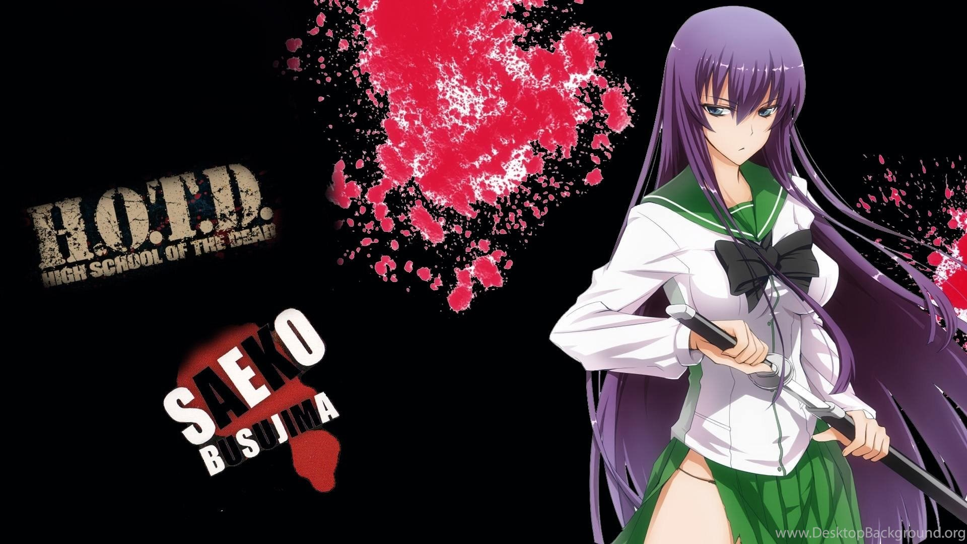 Saeko Busujima Highschool Of The Dead Wallpaper Desktop Background