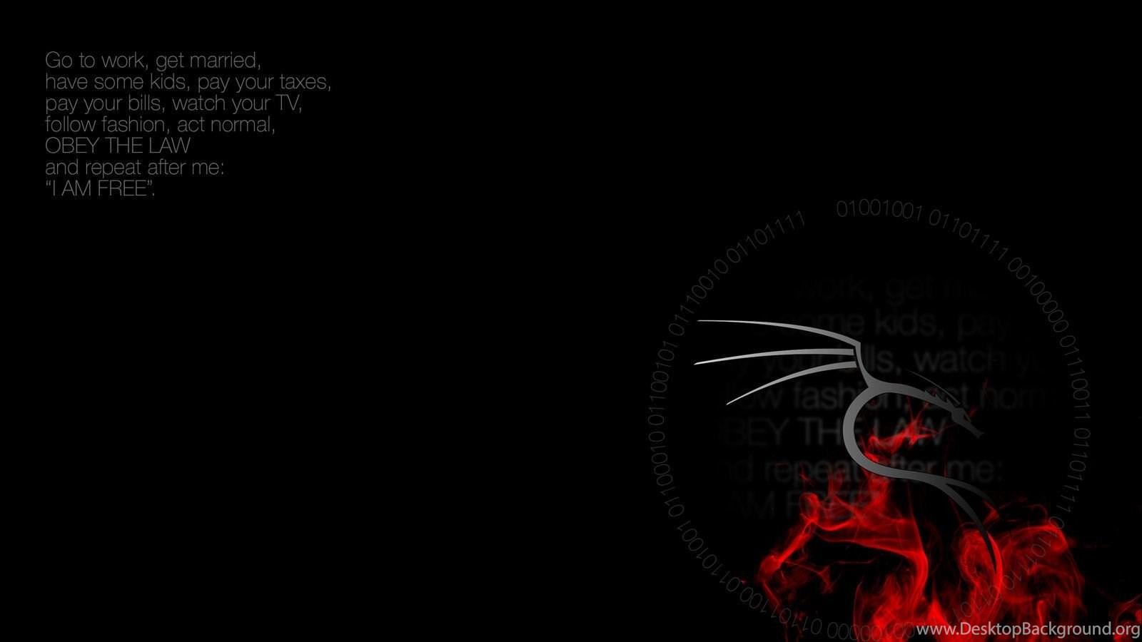 Kali linux wallpapers 39 i am free 39 desktop background - Kali linux wallpaper download ...
