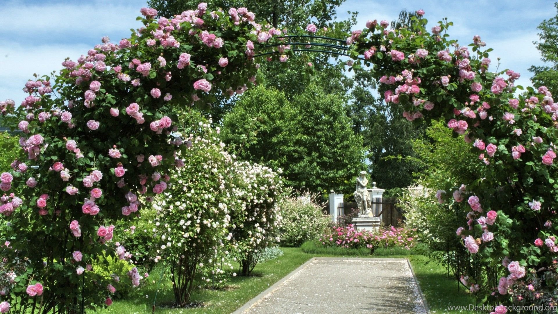 Arbor Tag Wallpapers Secret Garden Flowers Arch House Roses