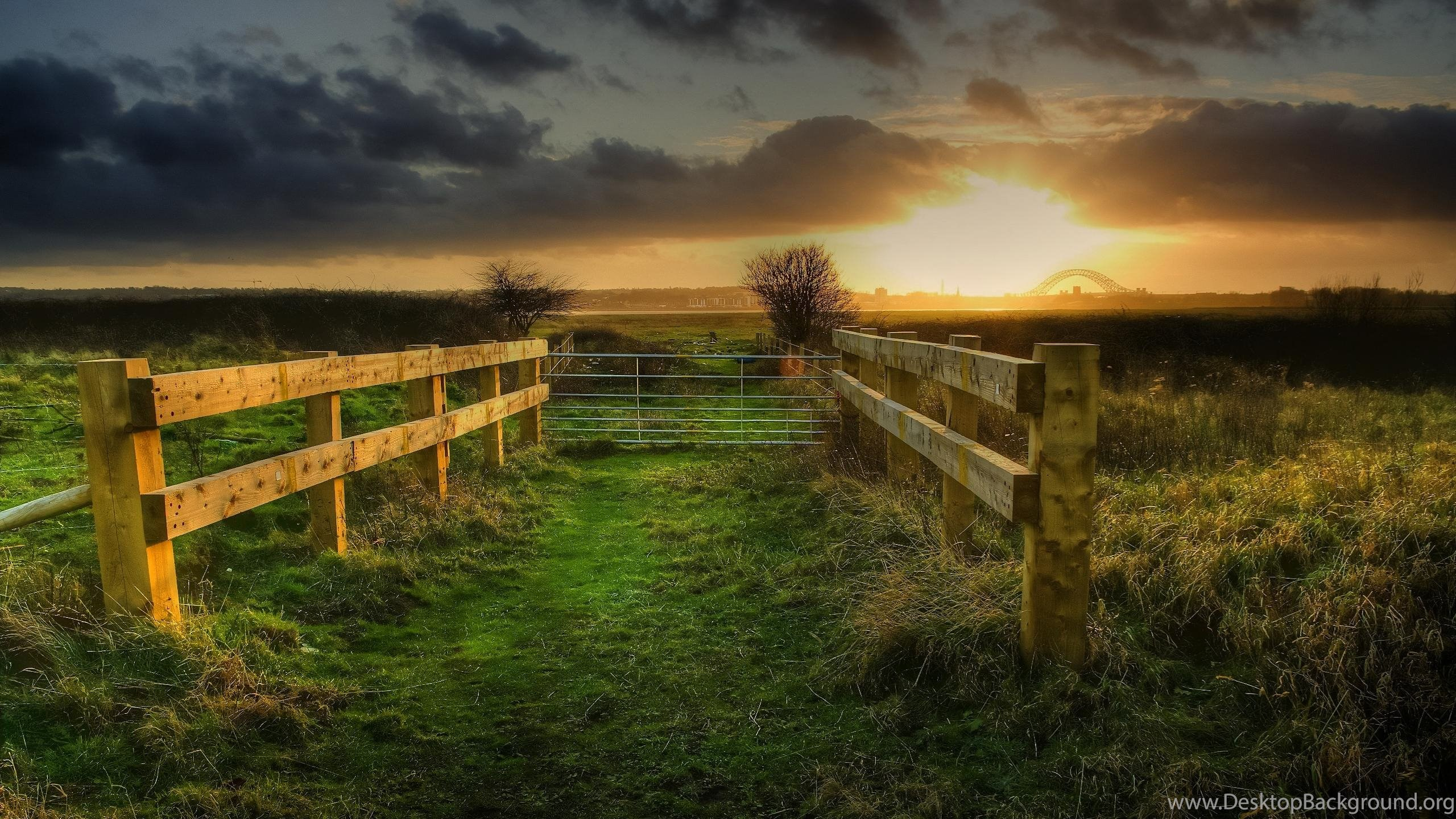 Country Fence Wallpapers Desktop Background