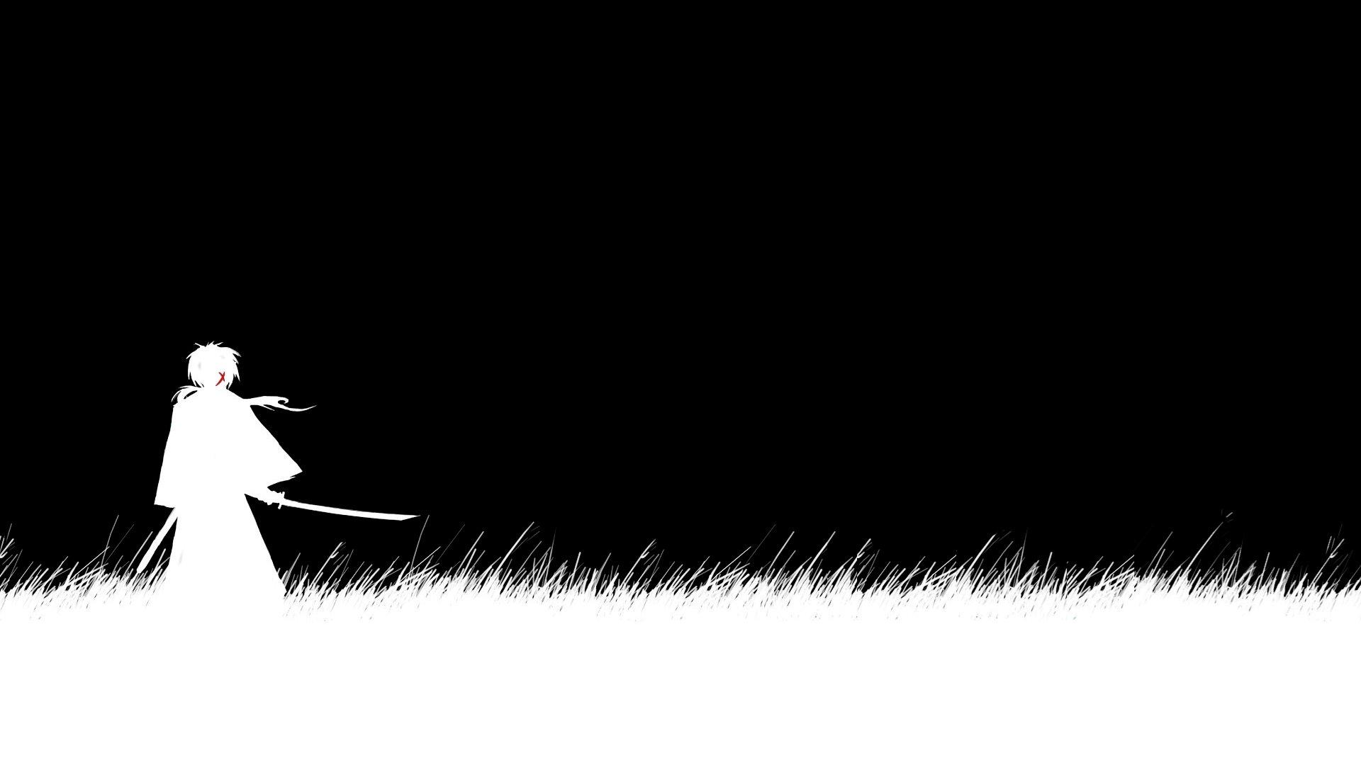 Black and white samurai x anime wallpapers pict desktop - Anime wallpaper black background ...
