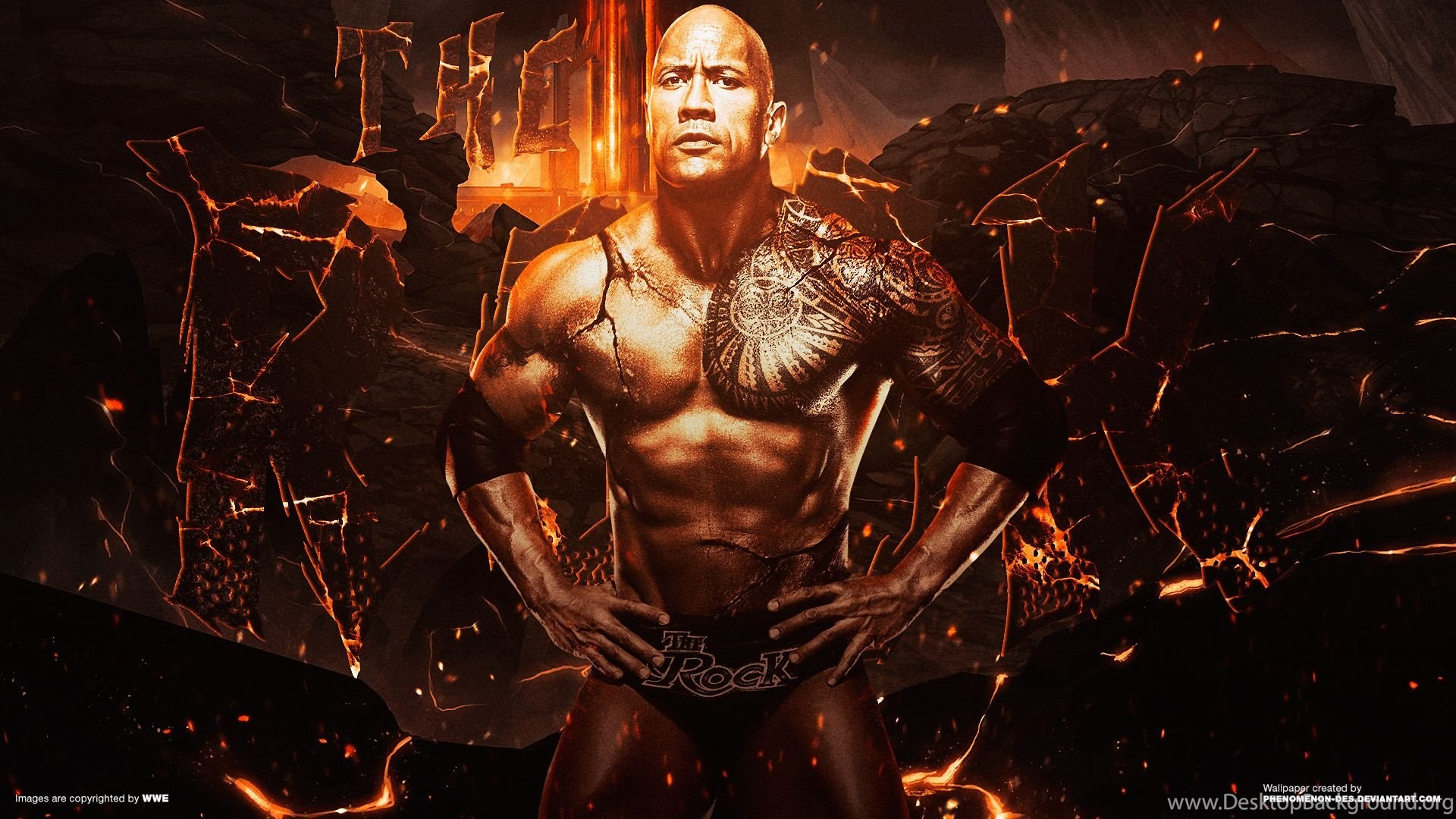 wwe the rock wallpapersphenomenon des on deviantart desktop
