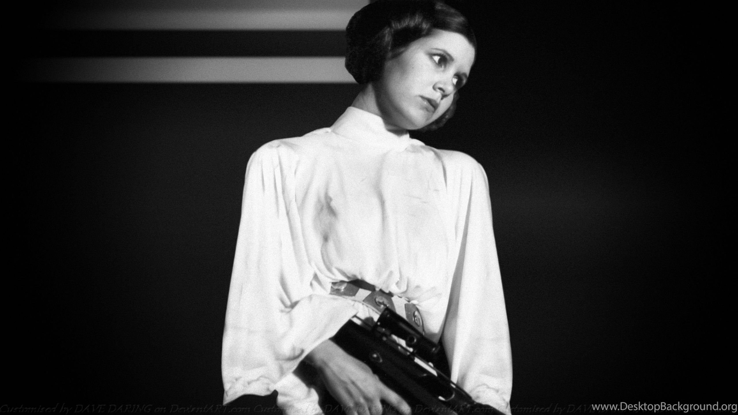 Carrie Fisher Princess Leia Xxii By Dave Daring On Deviantart Desktop Background
