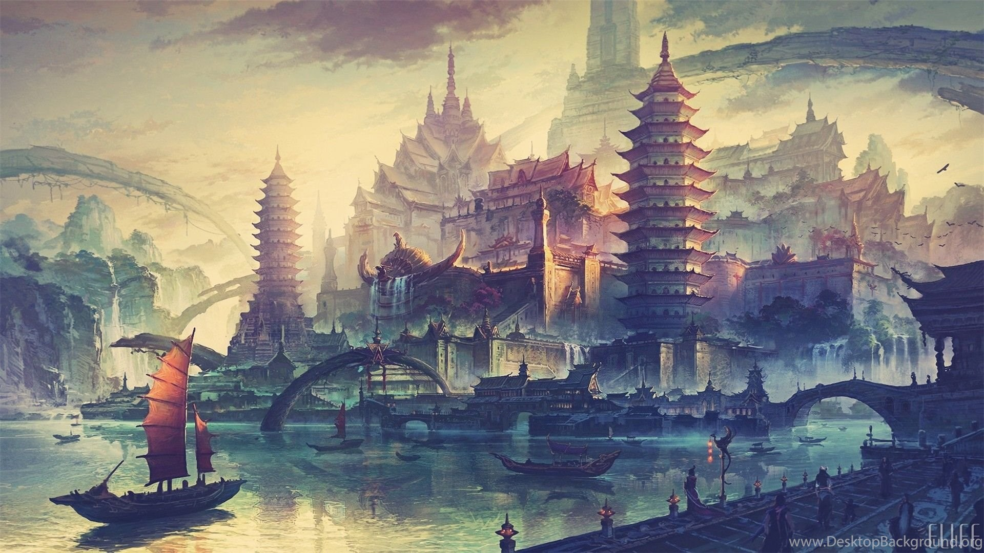 asian fantasy world awesome wallpapers and cool backgrounds desktop