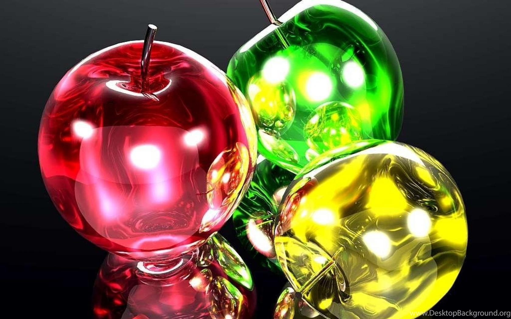 the glass apples wallpaper ( desktop background