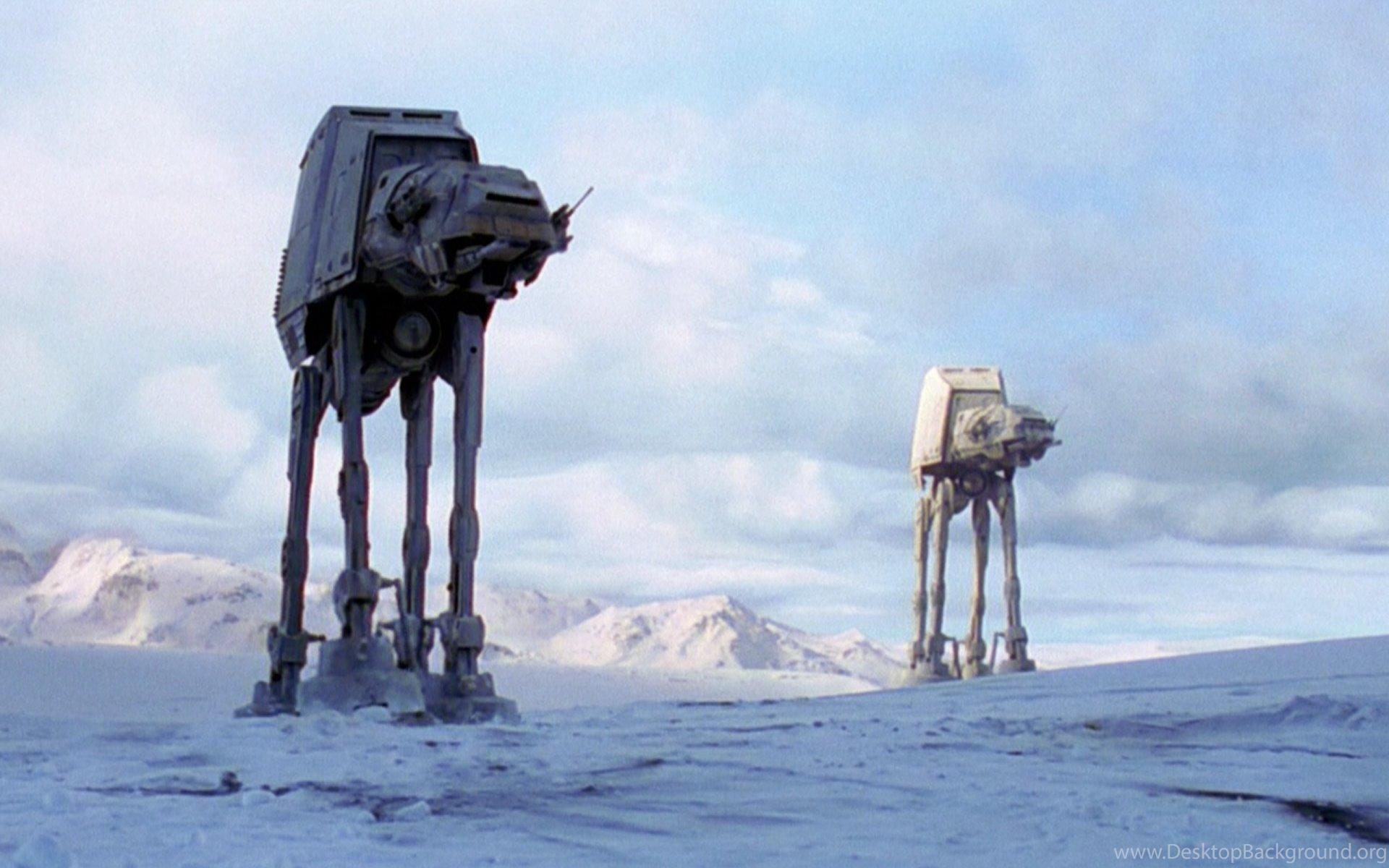 Star Wars At At Star Wars Episode V The Empire Strikes Back Desktop Background