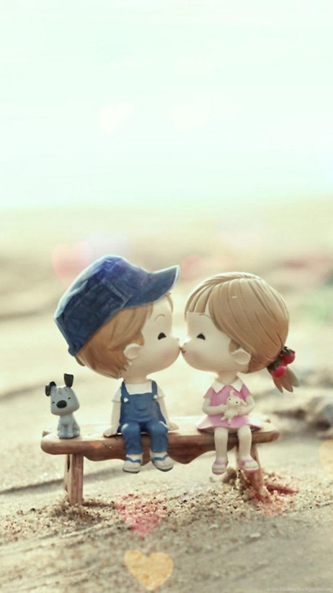 Cute Cartoon Kissing Couple Iphone 6 Wallpapers Download Desktop