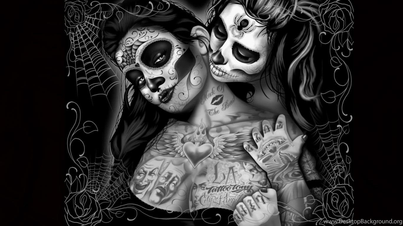 sugar skull computer wallpapers desktop backgrounds
