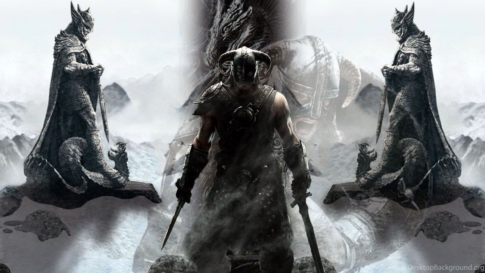 the elder scrolls v skyrim dragonborn wallpaper desktop background