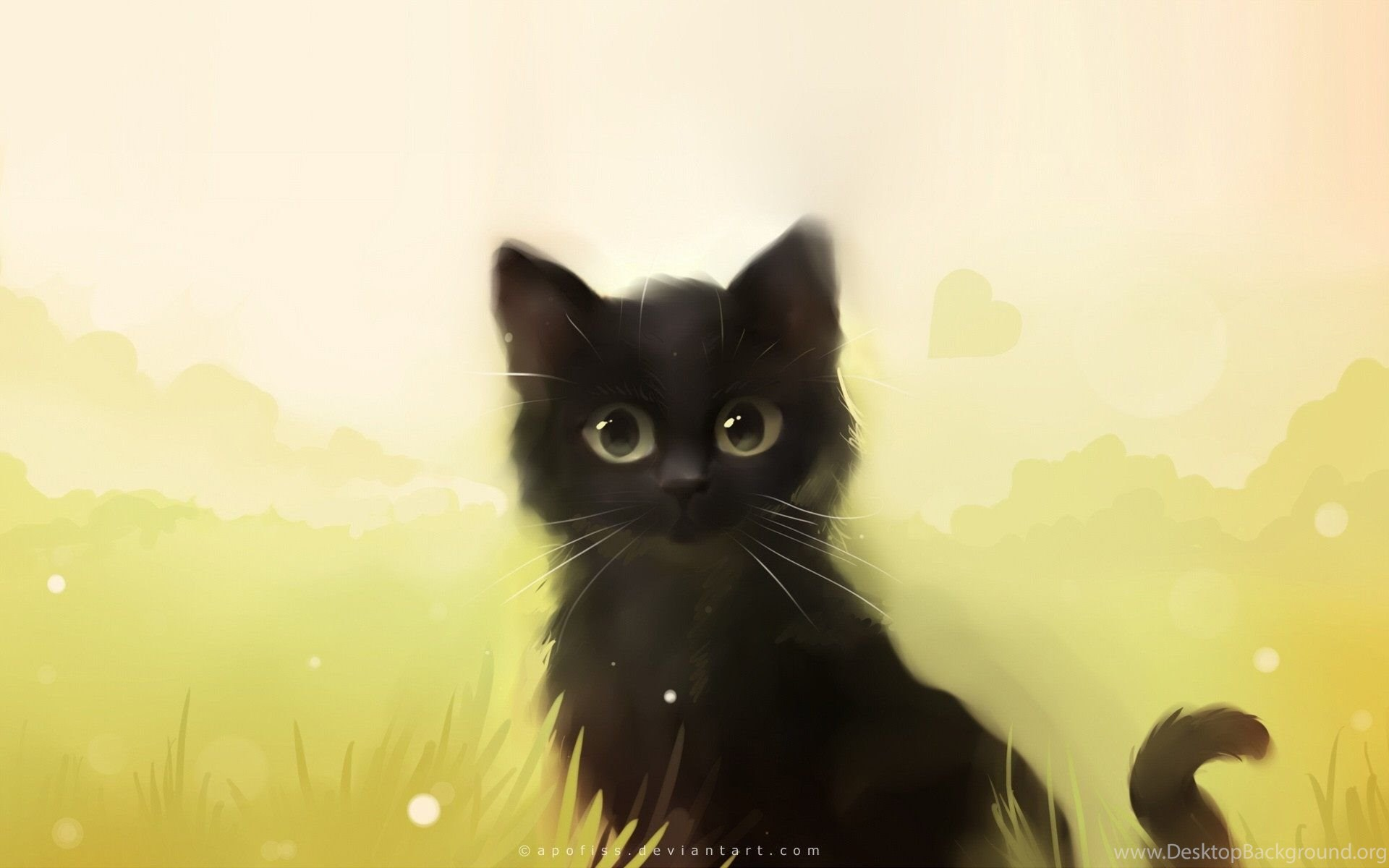 Beautiful Cat Painting Wallpapers Hd Download Of Cute Cat Desktop Background