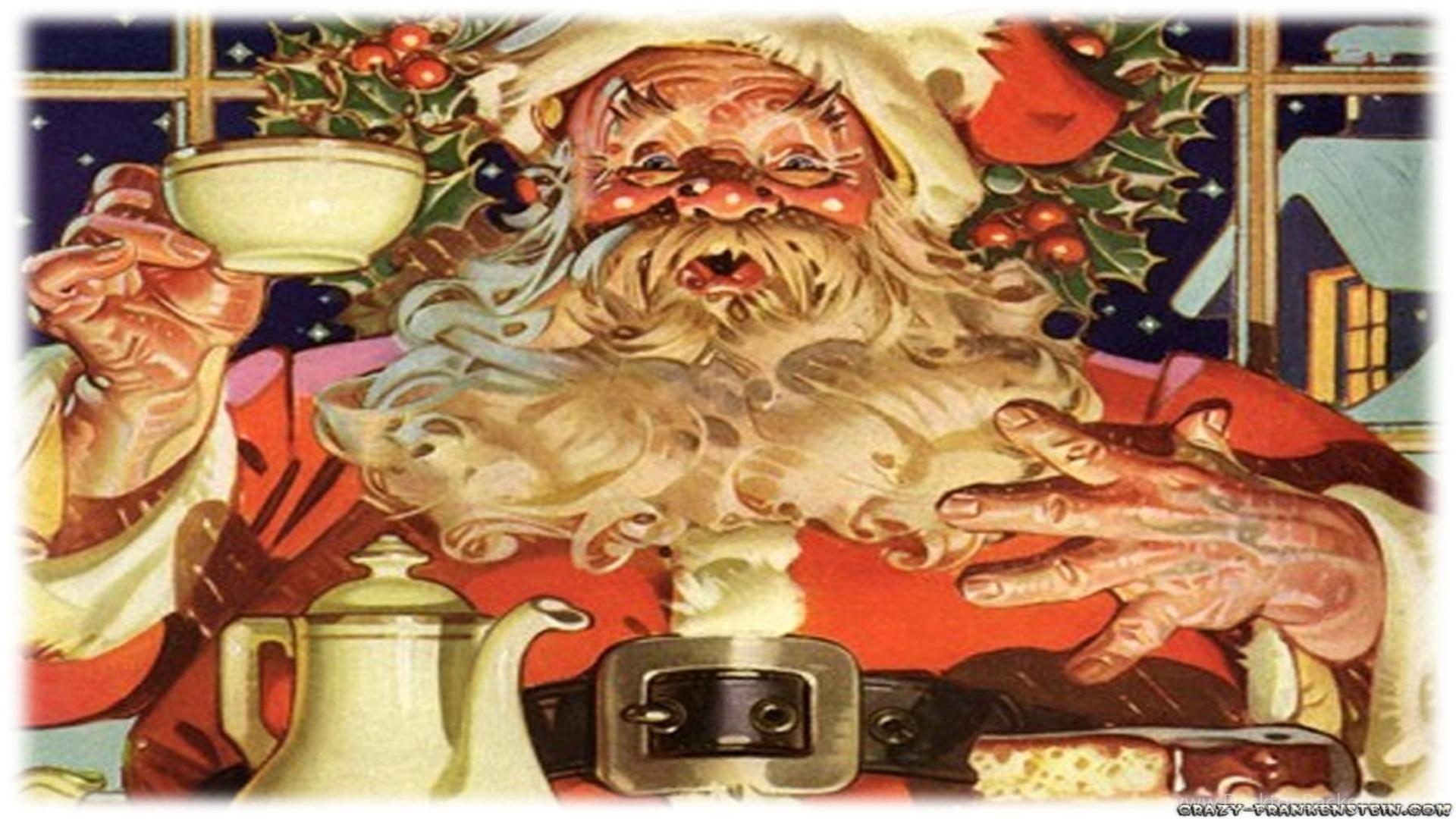 free retro christmas images