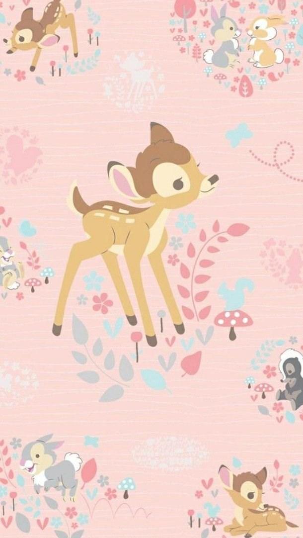 Bambi Disney Gadget Iphone Pink Wallpaper Home Screens Lock Desktop Background