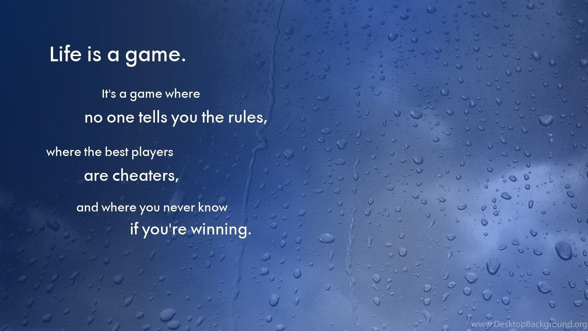 life game blue rain water drops wallpapers desktop background